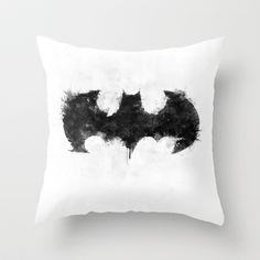 Batman Black Throw Pillow by d.bjorn - $20.00