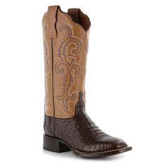 Lucchese Women's Annalyn Exotic Caiman Western Boots