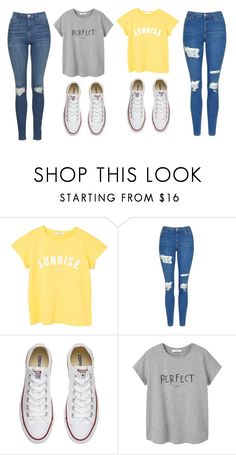 """Untitled #518"" by cuteskyiscute on Polyvore featuring MANGO, Topshop and Converse"