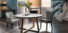 With its unique reinforced concrete top measuring 140cm diameter with an Oak timber base, the London is a dining table that will provide a clean, ultra modern look to your dining room. Pair up with the matching buffet, console or coffee table to create a