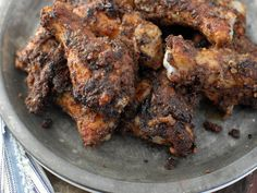Gojee - Toasted Wild Rice-Sumac-Cayenne Wings with Sour Cream Yogurt sauce by Boulder Locavore