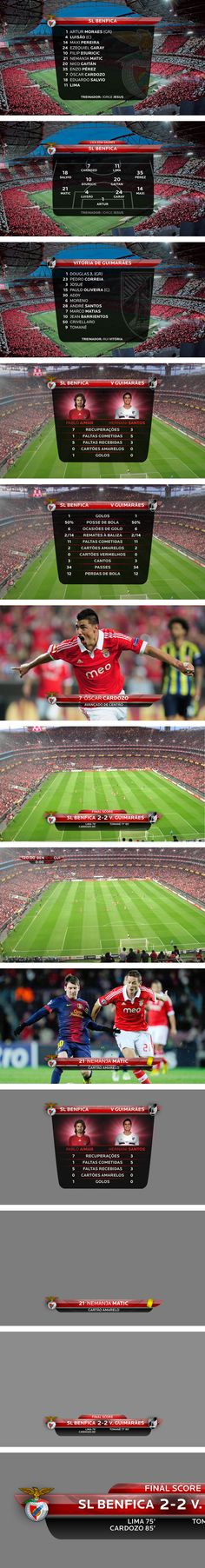 Benfica TV - On-air design - Paulo Garcia Gaming Banner, Football Design, Sports Graphics, Soccer Training, Game Ui, Sports Games, Design Process, Motion Graphics, Infographic