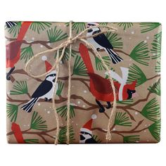 Snow Birds Wrapping Paper