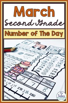 Number Sense Place Value Practice Number of the Day March Second Grade 2nd Grade Math Games, 2nd Grade Activities, Fun Math Activities, Second Grade Math, Number Sense, Daily Number, Subtraction Strategies, Teaching Math, Teaching Resources