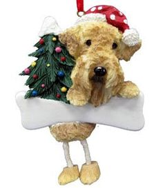 Airedale Terrier Christmas Tree Ornament - Personalize $9.95