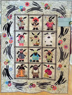 Bunnies on the Champs-Elysees by Jan Soules, design by Sue Garman.  2012 River City Quilters' Guild show.  Photo by Quilt Inspiration