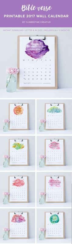 Printable Wall Calendar 2017 - Free Download | Freebies printable ...