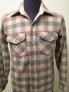 Woolrich Shirt Men's Size S Small Plaid Flannel Wool Lumberjack Hunting Buffalo #Woolrich #ButtonFront