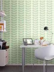 love: a wallpapered wall in an office