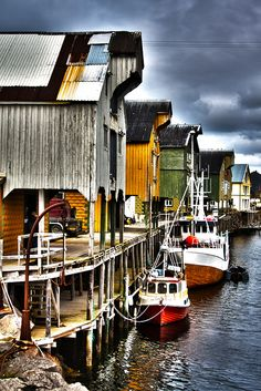 An old fishing village in the north of Norway.
