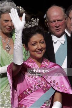 Wedding of Prince Frederik of Denmark and Mary Donaldson : After the ceremony in Copenhagen, Denmark on May 14, 2004 - Princess Alexandra of Denmark.