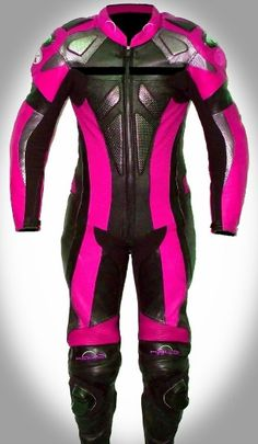 Pink leathers.