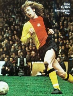 Kenny Burns of Birmingham City in 1974.