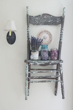 Chair Shelf- I can't get enough of chairs for shelfs:) happy to have a house to do this now!