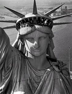 """""""This eagle eye view of the giant sculpture was taken by Margaret Bourke-White, when visitors were poking through the top."""""""