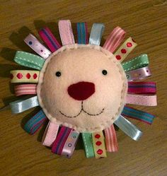 And sew it begins: Another felt animal - cute one for the little one with different coloured taggies