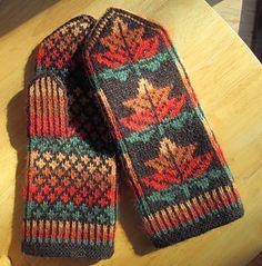Ravelry: Lönn pattern by Solveig Larsson Knitted Mittens Pattern, Crochet Gloves, Knit Mittens, Knitting Socks, Hand Knitting, Knitted Hats, Knit Crochet, Knitting Charts, Knitting Patterns
