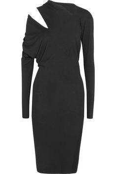Schwarzer Stretch-Jersey  Ohne Verschluss  95 % Viskose, 5 % Elastan   Handwäsche   Hergestellt in Italien