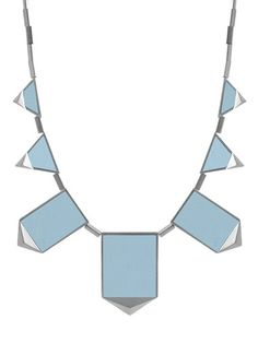 NWT House of Harlow 1960 Ice Blue Leather Five Station Silver Tone Necklace Blue Necklace, Leather Necklace, Leather Jewelry, Station Necklace, Stylish Jewelry, Classy And Fabulous, Fashion Necklace, Classic, House
