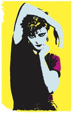 Punk Goth Goddess Siouxsie Sioux of Siouxsie and the Banshees on an 11X17 Art Print Poster
