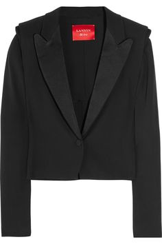 Cropped tuxedo jackets are a staple.