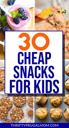 Simple, budget friendly snack ideas that are healthy and fun too! Perfect for kid's after school, bedtime or just because snacks. So many easy, delicious ideas! #thriftyfrugalmom #cheapsnacks #snacksforkids #healthysnacks
