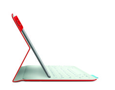 The Logitech FabricSkin Keyboard Folio for iPad Air will put your tablet to work on your terms with its integrated Bluetooth keyboard. Plus, it offers two-sided protection with our luxurious FabricSkin material that is thin, light, and elegant.