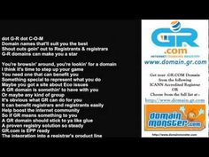 GR Domain Name Rap Song @ www.domain.gr.com