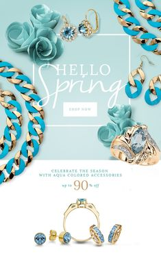 E-mail Design   #email #fashion #graphicdesign #marketing #advertising #spring #jewelry #springemail #springfashion #marketing #emailmarketing #inspiration #gooddesign #e-mail design #emaildesign