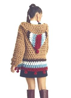 Bohemian sweater, hippie clothing boutique Bohemian Look, Hippie Outfits, Boutique Clothing, Boho Sweaters, That Look, Hippie Clothing, Crochet Patterns, Wool, Knitting