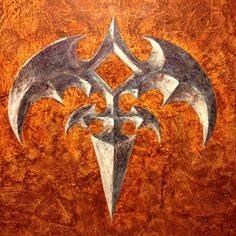 Original painting of the legendary Tri-ryche Queensryche's logo. by jerry crow