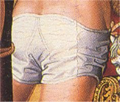 Segunda mitad del siglo XV. El Calvario, Juan Sánchez, Galería Caylus, Madrid (detalles) Medieval Times, Medieval World, Medieval Clothing, Historical Clothing, Middle Ages Clothing, 16th Century Clothing, Landsknecht, Medieval Costume, 15th Century