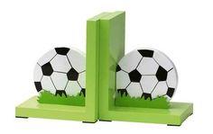 De voetballen zorgen dat je boeken niet omvallen. Afm: 26x13x16cm