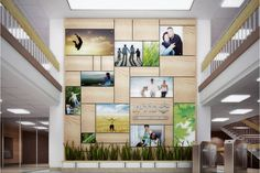 – Entrance Hall displaying brand values. Clinic Design, Healthcare Design, Wayfinding Signage, Signage Design, Banner Design, Digital Wall, Digital Signage, Environmental Graphics, Environmental Design