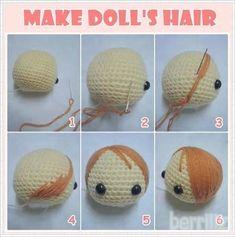 Berriiiz in Amigurumi World: สิงหาคม 2009 Crochet For Kids, Diy Crochet, Crochet Crafts, Crochet Projects, Amigurumi Doll, Amigurumi Patterns, Doll Patterns, Crochet Patterns, Crochet Eyes