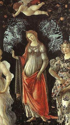 """Sandro Botticelli - Venere, dettaglio da """"Primavera"""" - tempera su tavola - 1482 circa - Galleria degli Uffizi a Firenze"""