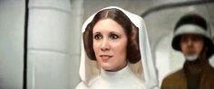 The new Princess Leia-- this is in the new Star Wars film. I don't know how they did it but it was amazing.