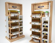Cardboard POSM 2 on Behance Pos Display, Display Design, Beluga Vodka, Corona Extra, Industrial Design, Wine Rack, Cool Stuff, Storage, Behance