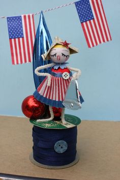 18x12 Picture Peddler in Our America Patriotic Flag Inspirational Art Print Poster