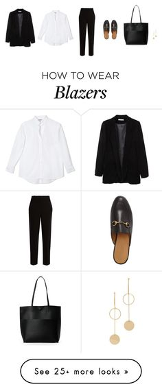 """Untitled #4027"" by memoiree on Polyvore featuring MANGO, The Row, Gucci, Street Level and Cloverpost"