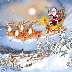3671 Servilleta decorada Navidad