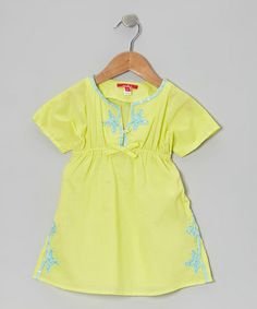 Another great find on #zulily! Lime Sequin Beach Tunic - Toddler & Girls by One Kid #zulilyfinds