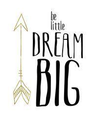 Girls Nursery Printable Wall Art | These Bare Walls | Be Little Dream BIG | Tribal Print | Nursery Print