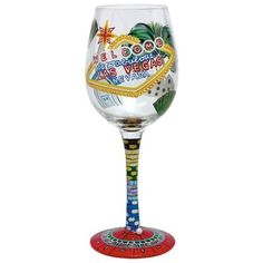 Santa Barbara Studio GLS11-5590V Lolita Wine Glass - Las Vegas by Santa Barbara Studio. $25.10. The harsh chemicals and high temperatures can damage the paint.. We recommend gentle hand washing to clean your Lolita glassware.. Las Vegas.. Large 15-oz. capacity.. Lolita glasses are NOT dishwasher safe.. Themed wine glasses, with a recipe on the bottom. These glasses are painstakingly hand painted and oven baked to ensure durability. On the bottom you will find a recipe for a...