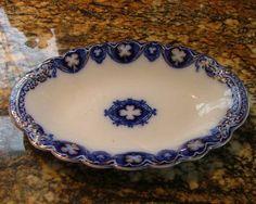 SAVOY Pattern - Flow Blue - Condiment Dish - Johnson Brothers - England
