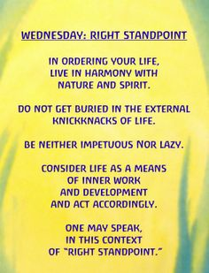 Rhythm ~ Wednesday: Right Standpoint