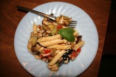 Ratatouille Pasta Salad–gettin' those veggies in (has eggplant)