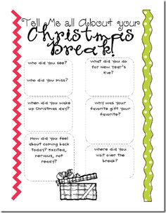 the tattooed teacher: Back with a Bang {a freebie and don't forget my giveaway! New Years Activities, Back To School Activities, Classroom Activities, Classroom Ideas, Too Cool For School, School Fun, School Stuff, School Ideas, Teaching Writing