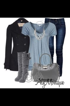 A fashion look from January 2013 featuring Ezekiel t-shirts, Burberry coats и Boohoo jeans. Browse and shop related looks. Mode Outfits, Fall Outfits, Casual Outfits, Fashion Outfits, Fashion Bags, Fashion Mode, Look Fashion, Womens Fashion, Fall Fashion