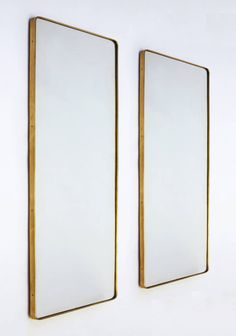 Pair of Gio Ponti Mirrors From Hotel Parco dei Principi, Rome, 1964 image 3 Gio Ponti, Italian Furniture, New Furniture, Casa Mix, Wall Mirrors For Sale, Joe Colombo, Industrial Mirrors, Industrial Chic Style, Modern Retro